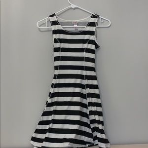 Justice Black & White Sun Dress/Swimsuit Cover